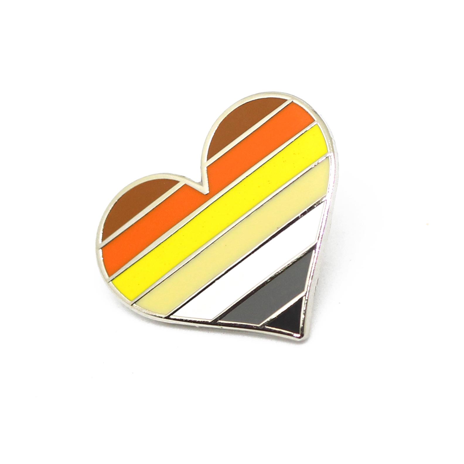 Bear Pride Heart Lapel Pin