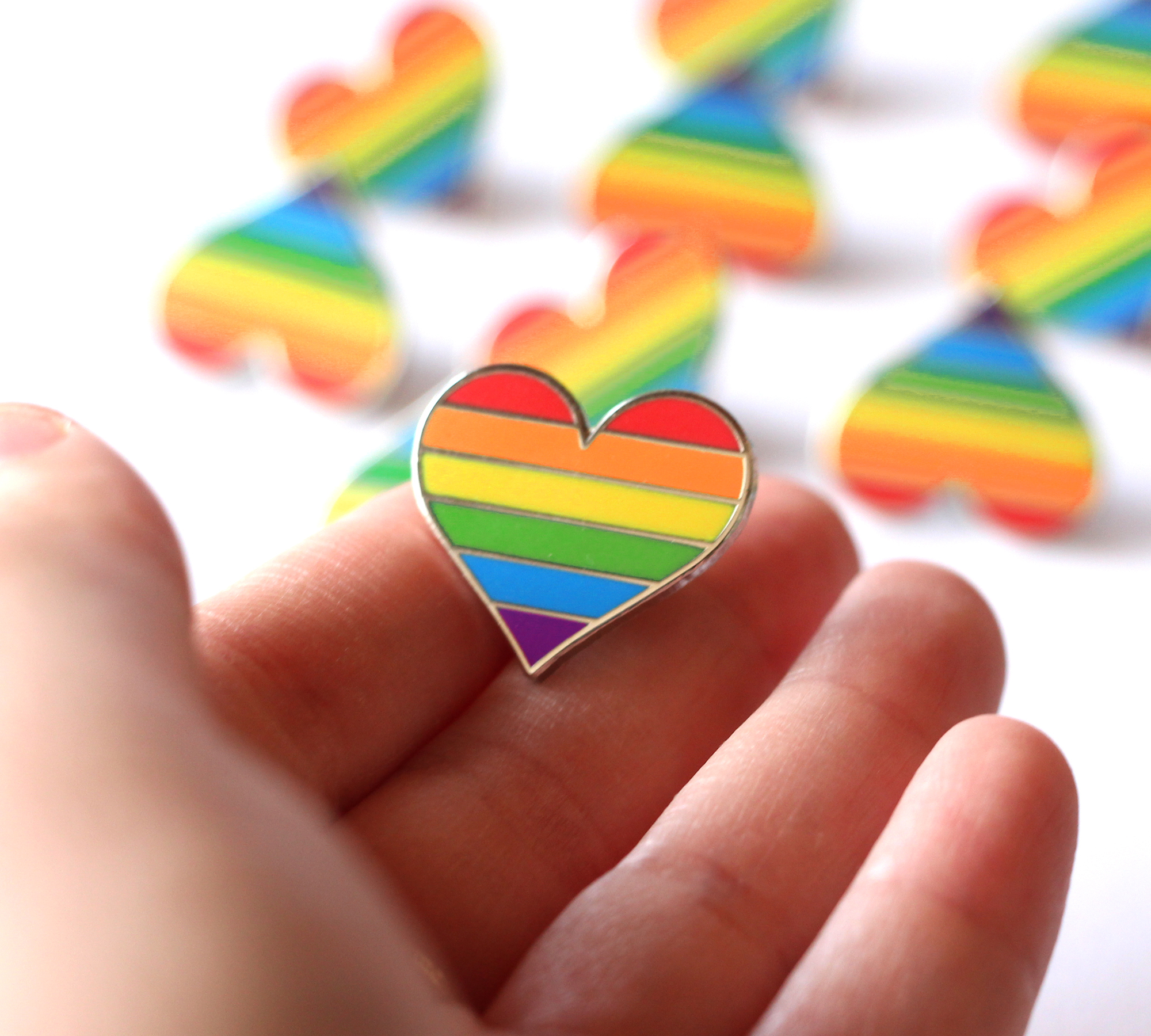 Rainbow Cake enamel pin - lapel pin - hat pin by MightyPop