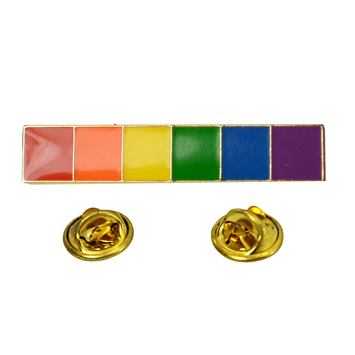 Rainbow Pin Enamel Pin Rainbow Lapel Pin Rainbow Heart