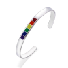 Titanium Steel Rainbow Love Pride Bangle
