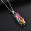 Rainbow Stone Tree Of Life Pendant Necklace