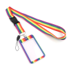 Rainbow Lanyard With ID/Credit Card Holder