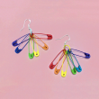 Rainbow Safety Pins Earrings