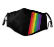 Black Rainbow Striped Face Mask - Limited Quantity Available NOW SHIPPING