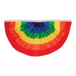 Gay Pride - 4 ft x 2 ft Rainbow Pleated Bunting Fabric