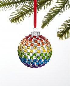 Holiday Lane Love is Love Rainbow Ball Ornament