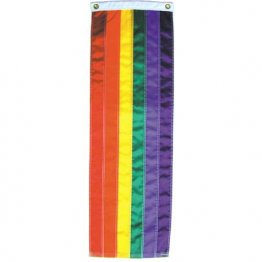 Gay Pride - 1' x 5' Foot Rainbow Sewn Nylon Flag