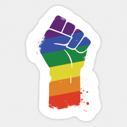 "PrideOutlet's LGBT Resist Gay Pride Awareness 4"" Inch Bumper Sticker"