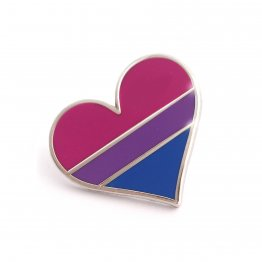 Bisexual Pride Heart Lapel Pin