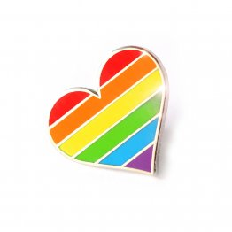 Rainbow Pride Heart Lapel Pin