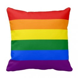 "Decorative LGBT Rainbow Pride Flag 18"" X 18"" Pillow Case"