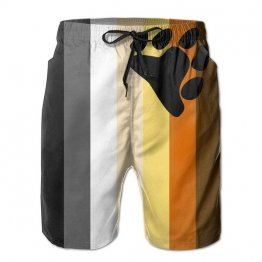 LGBT Bear Pride Men's Quick-Dry Board-shorts