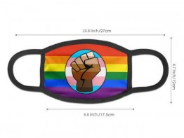 Rainbow Pride/Transgender With Black Lives Matter Fist Face Mask - Limited Quantity Available NOW SHIPPING
