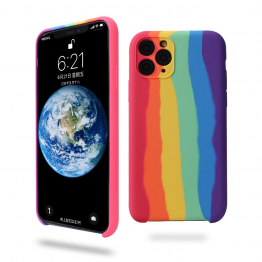 Original Rainbow Liquid Silicone iPhone Case