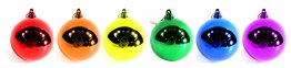 6PK Rainbow Ball Ornaments