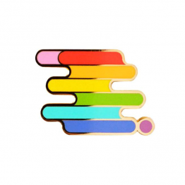 Modern Rainbow LGBTQ Lapel Pin