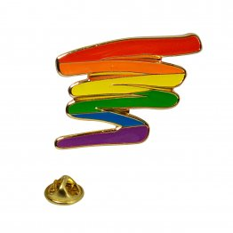 Rainbow Squiggle Lapel Pin