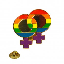 Rainbow Pride Double Female Lapel Pin