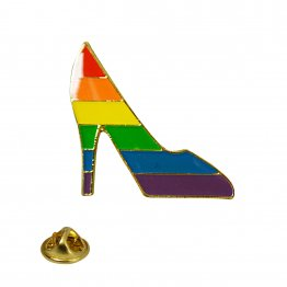 Rainbow Pride Pump Lapel Pin