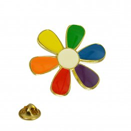 Rainbow Daisy Lapel Pin