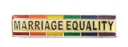Marriage Equality Lapel Pin w/ Rainbow