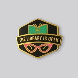 GAYPIN' Library Is Open Lapel Pin