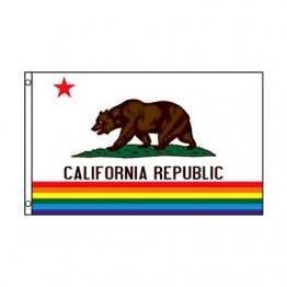 California Bear Pride Flag - 3' x 5' Polyester Flag w/Metal Grommets and a Cotton Heading