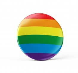 LGBTQ Pride pin button
