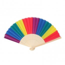 Rainbow Hand Held Folding Fan