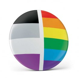 Asexual Pin Button