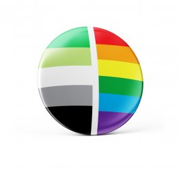 Aromantic pride pin button