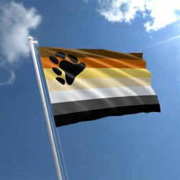 Bear Pride - 3' x 5' Polyester  Flag w/Metal Grommets and a Cotton Heading