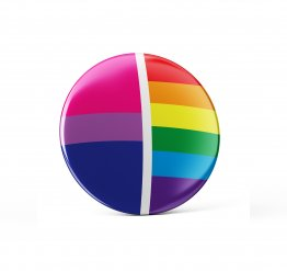 Bisexual pride pin button