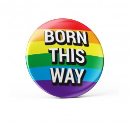 Born this way pride pin button