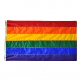 Gay Pride - 8' x 12' Foot Rainbow Sewn Nylon Flag