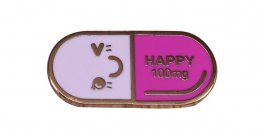 Happy Pill Lapel Pin