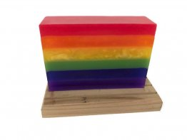 Rainbow Soap - LGBTQ Pride Soap Bar - Glycerin Soap - Rainbow Sherbet Scent - Moisturizing Soap