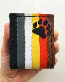 Handmade Bear Pride Leather Bi-fold Wallet