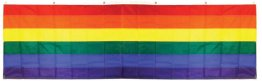 Gay Pride - 3' x 10' Foot Rainbow Sewn Nylon Banner