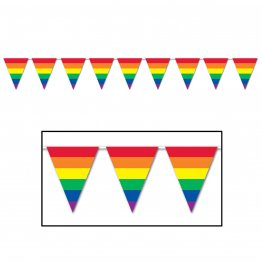 Gay Pride Rainbow - 12ft Rainbow Flag Pennants Streamer