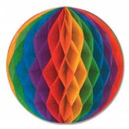 Rainbow Tissue Ball 14""