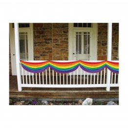Gay Pride - 5ft Long Rainbow Bunting Fabric