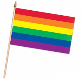 "Rainbow Flag - Fabric 11"" x 18' (Case of 12)"