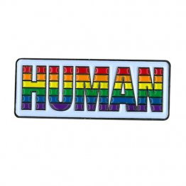 Lapel Pin Rainbow HUMAN