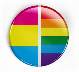 Pansexual pride pin button