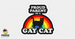 "PrideOutlet Proud Parent of a Gay Cat 4"" Inch Bumper Sticker"