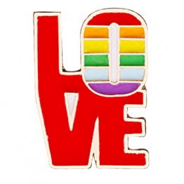 Rainbow Pride Love Lapel Pin