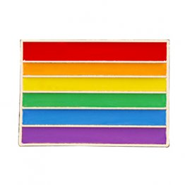 Retro Rainbow Pride Flag Lapel Pin