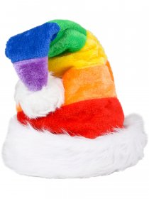 Rainbow Pride Gay Flag Christmas Santa Claus Hat