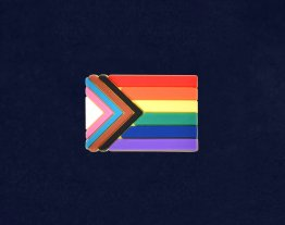 """Progress Pride"" Flag by Daniel Quasar Silicone Flag Pin"